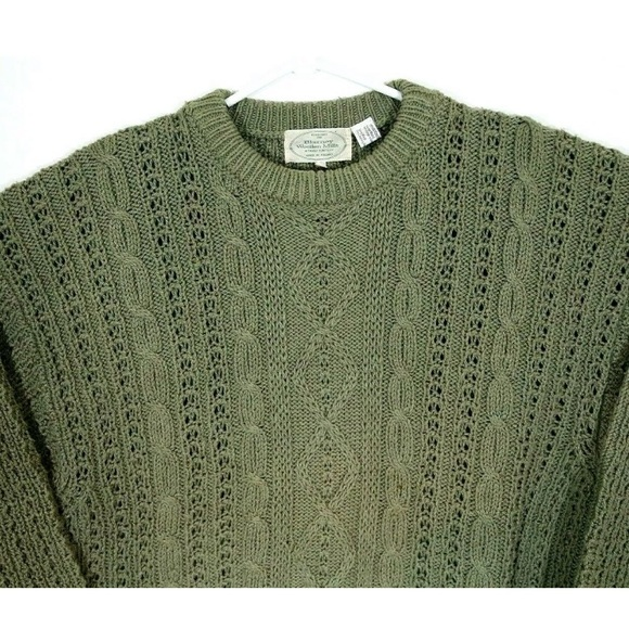 SOLD BLARNEY WOOLLEN MILLS Irish Fisherman Sweater